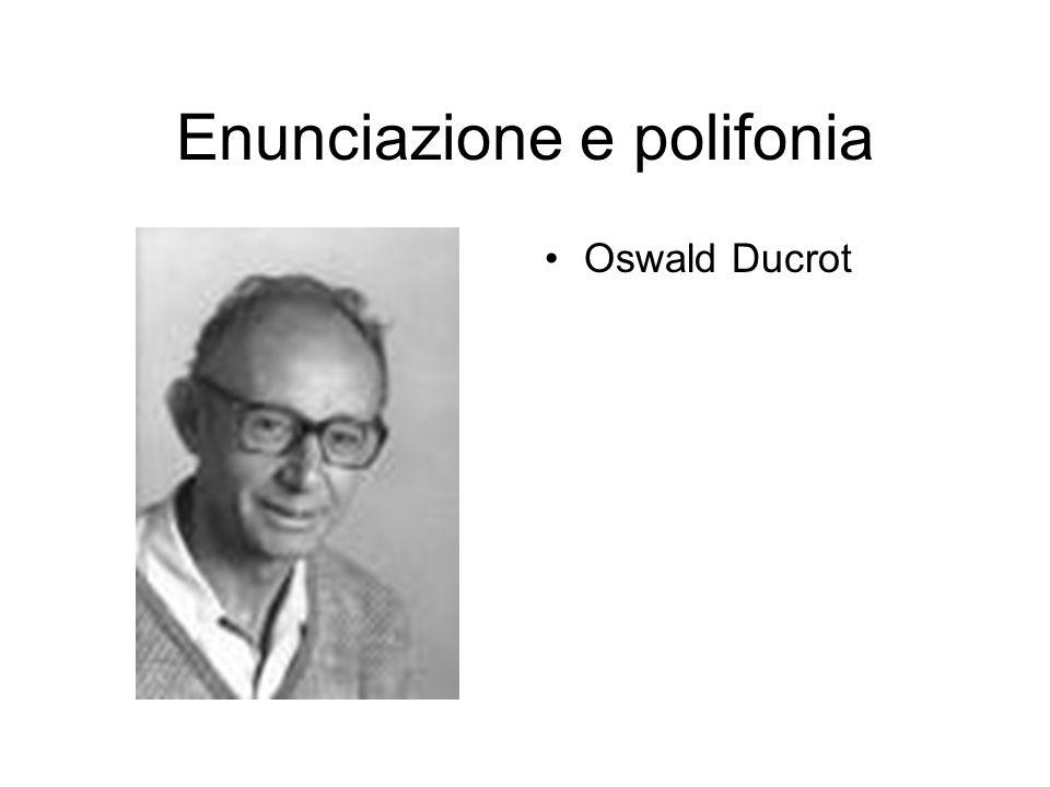Enunciazione e polifonia Oswald Ducrot