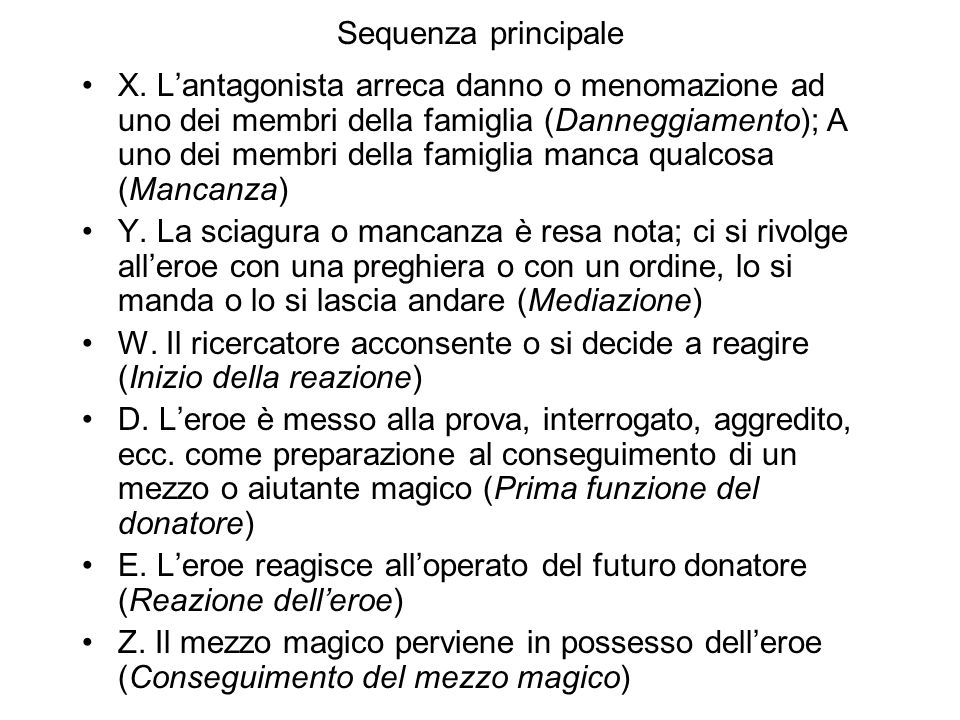 Sequenza principale X.
