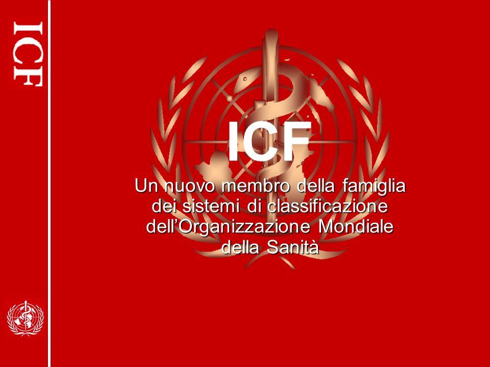 ICF Un nuovo membro della famiglia dei sistemi di classificazione dellOrganizzazione Mondiale della Sanità