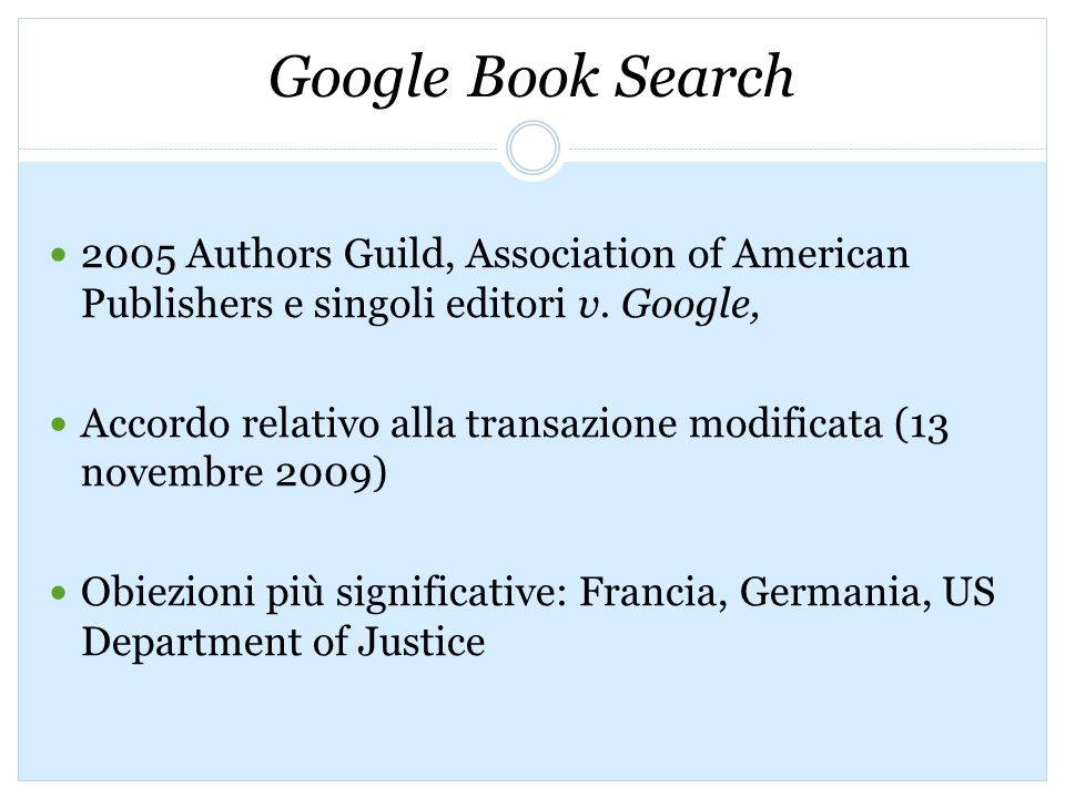 2005 Authors Guild, Association of American Publishers e singoli editori v.