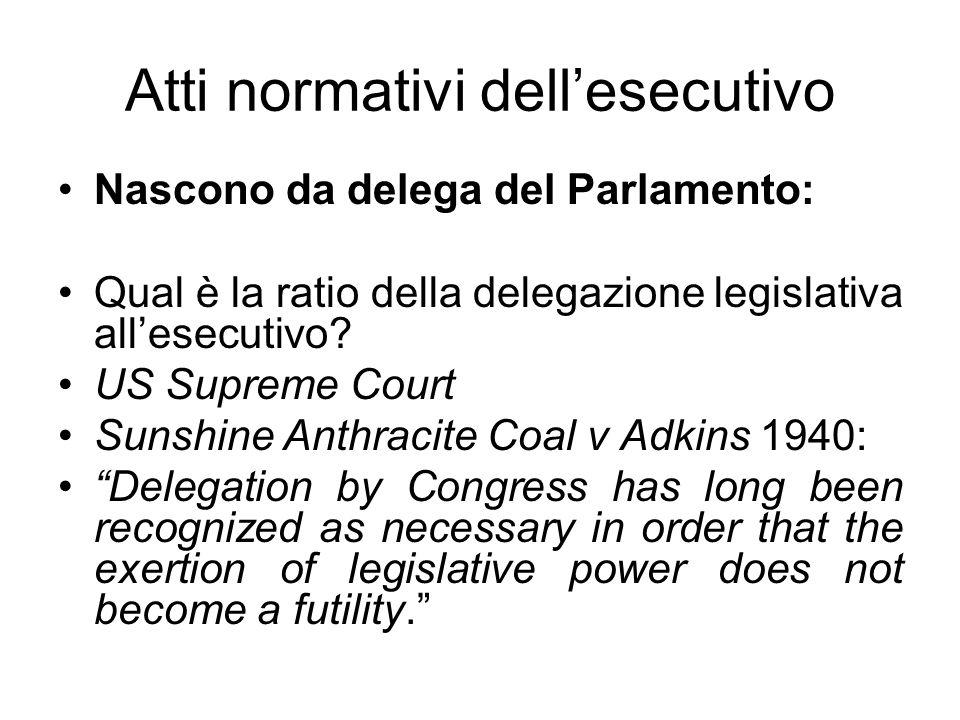 In alcuni ordinamenti non è ammessa: (es.Costituzione francese 1946: Art.