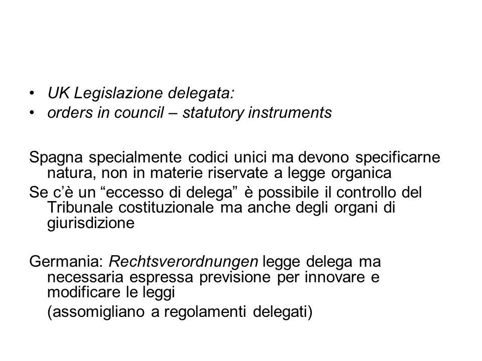 Italia: decreti legislativi Art.76.