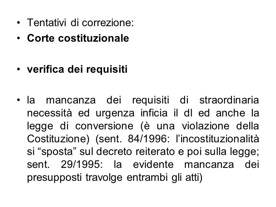 La Corte interviene sulla reiterazione 360/1996: decreto legge reiterato per 2 anni: violazione dellart.