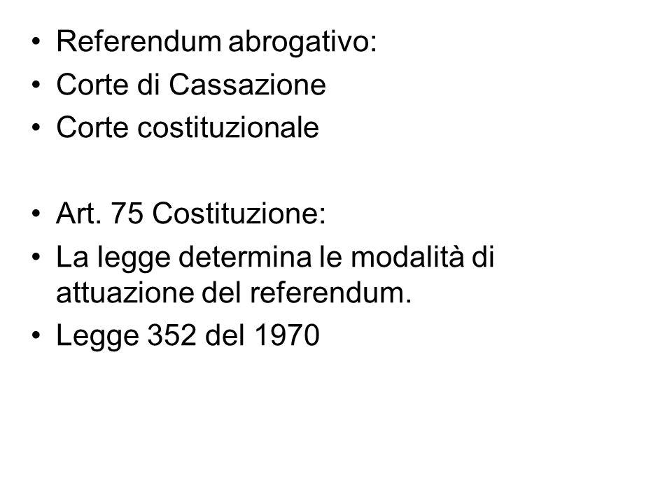 L.352/1970: ART. 39 SE PRIMA DELLA DATA DELLO SVOLGIMENTO DEL REFERENDUM.