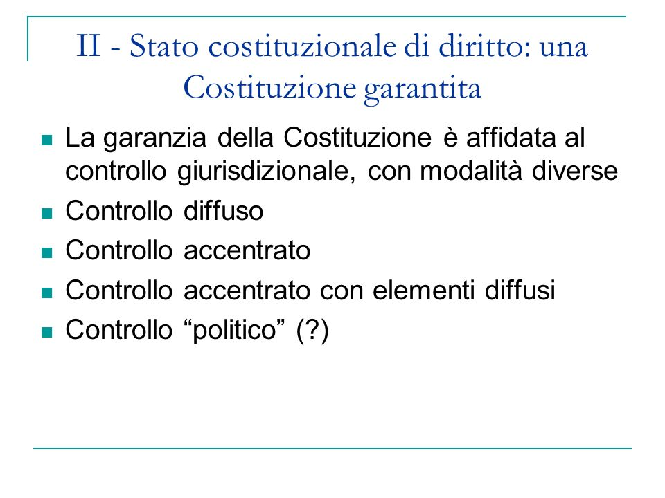 Il controllo diffuso Come nasce il Judicial review of legislation negli Stati Uniti Marbury v.