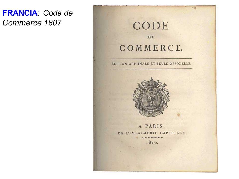 FRANCIA: Code de Commerce 1807