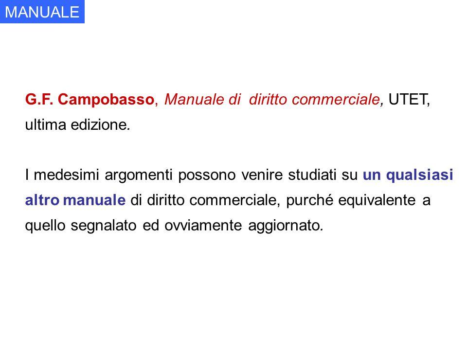 G.F. Campobasso, Manuale di diritto commerciale, UTET, ultima edizione. I medesimi argomenti possono venire studiati su un qualsiasi altro manuale di