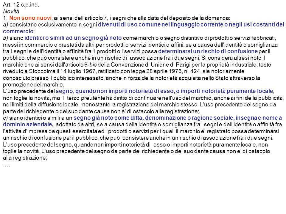 Art. 12 c.p.ind. Novità 1.