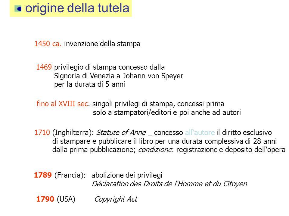 origine della tutela 1450 ca.