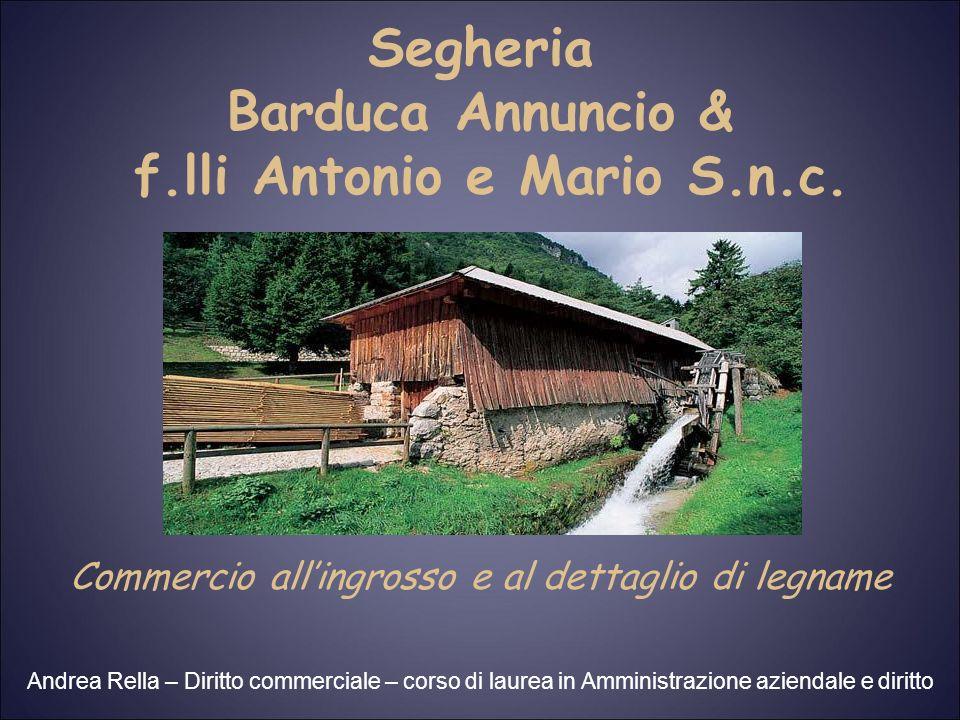 Formalmente è costituita Società in nome collettivo Atto costitutivo del 28 dicembre 1984 tra tre fratelli: Barduca Antonio Barduca Mario Art.