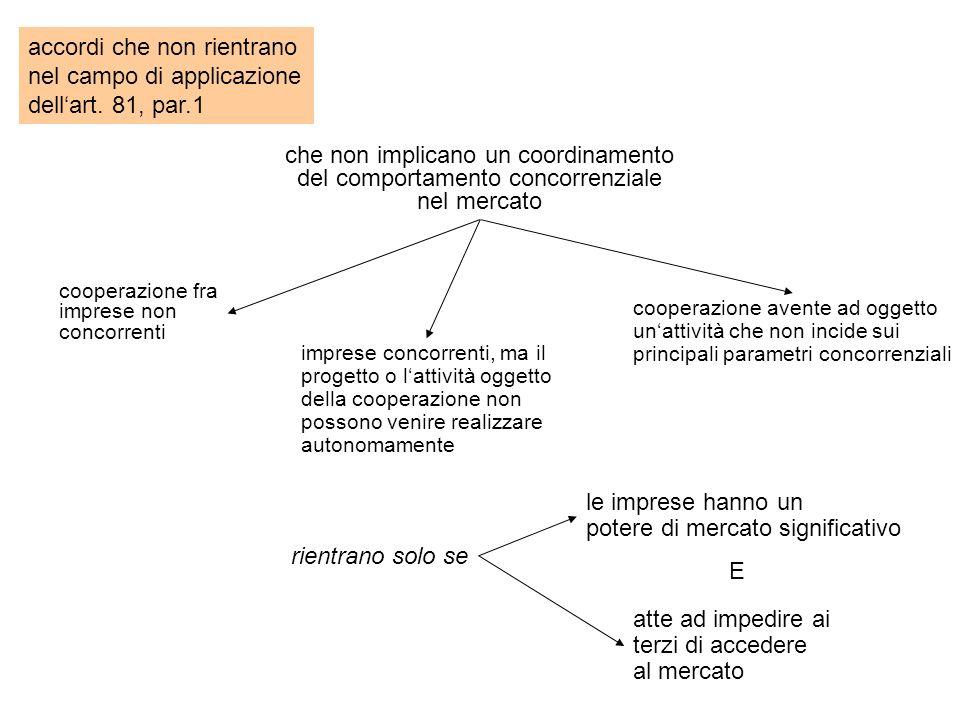 accordi che non rientrano nel campo di applicazione dellart.