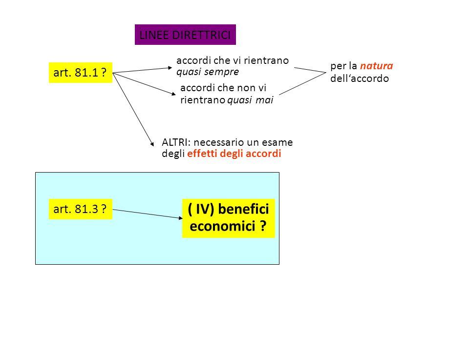 LINEE DIRETTRICI art. 81.1 .