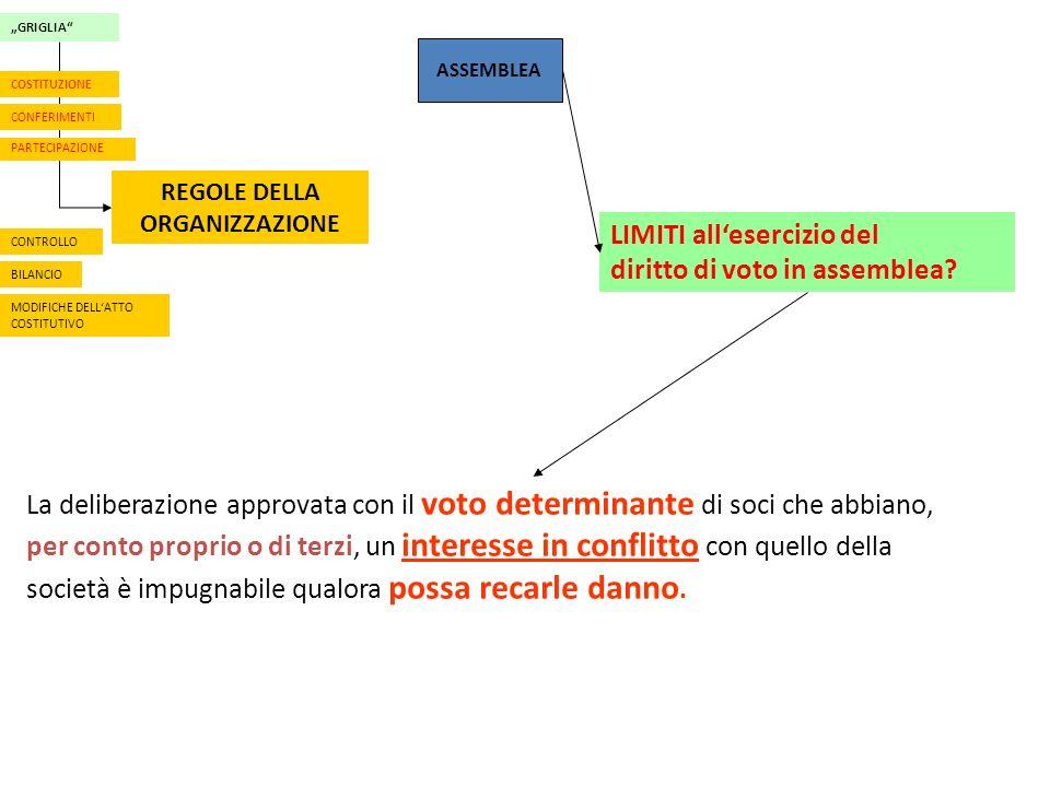 ASSEMBLEA LIMITI allesercizio del diritto di voto in assemblea.