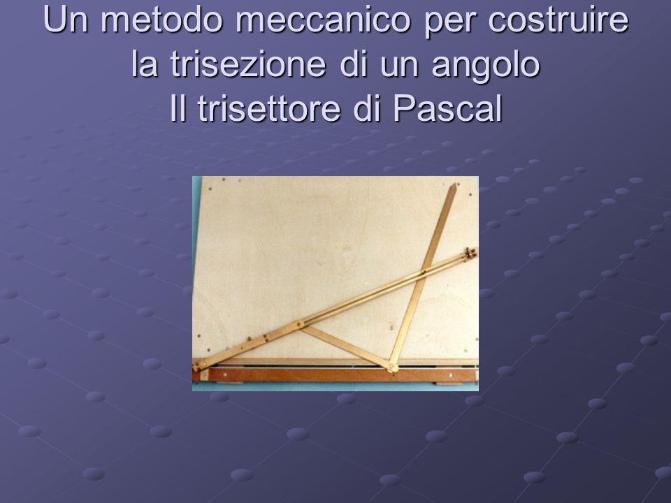 Un metodo meccanico per costruire la trisezione di un angolo Il trisettore di Pascal