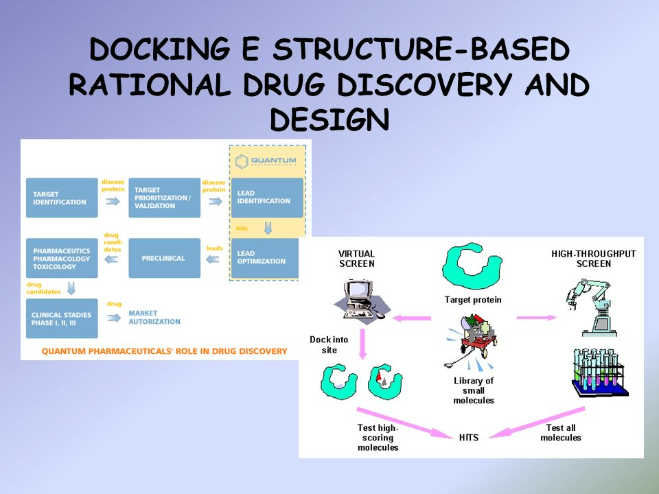 IL DOCKING strutture 3D conosciute predire se e come interagiranno per formare un complesso molecolare funzionale Metodi energetici Metodi geometrici Proteina: in complesso e isolata; molteplici stati conformazionali;