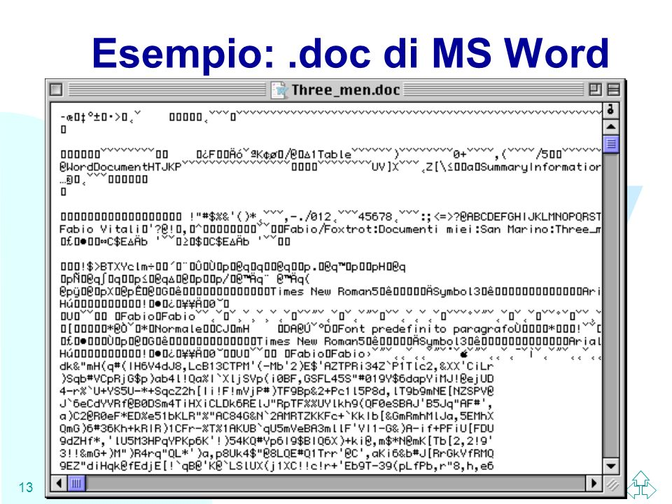 WWW 13 Esempio:.doc di MS Word