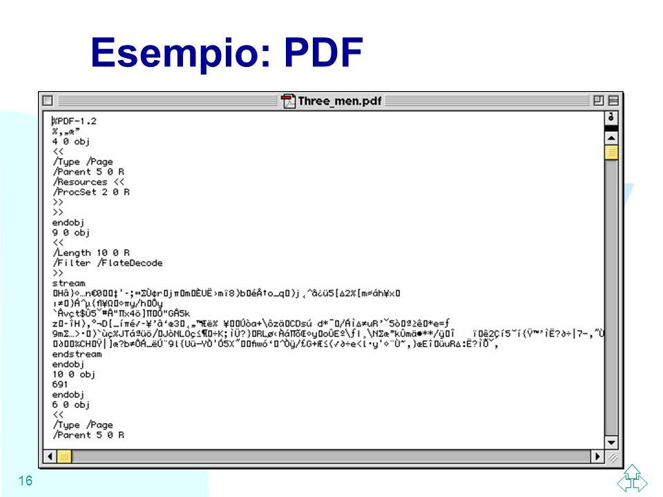 WWW 16 Esempio: PDF