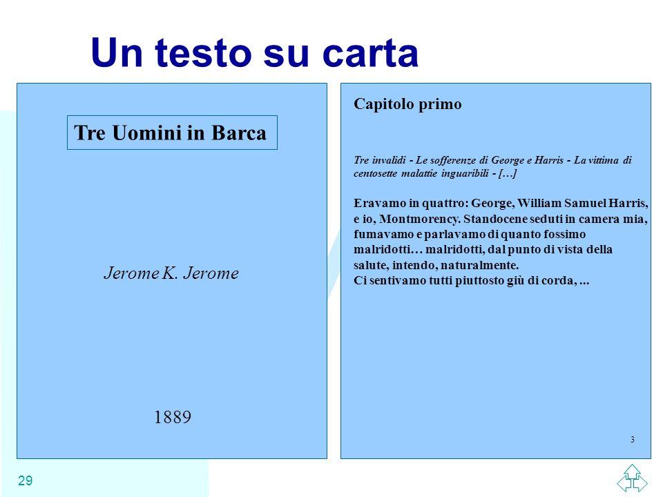 WWW 29 Un testo su carta Tre Uomini in Barca Jerome K. Jerome 1889 Capitolo primo Tre invalidi - Le sofferenze di George e Harris - La vittima di cent
