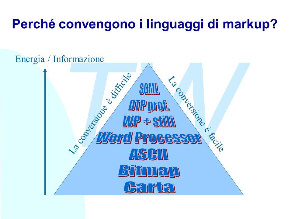 TW Perché convengono i linguaggi di markup.