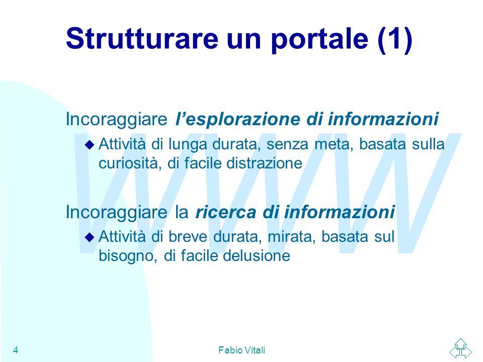 WWW Fabio Vitali5 Strutturare un portale (2)