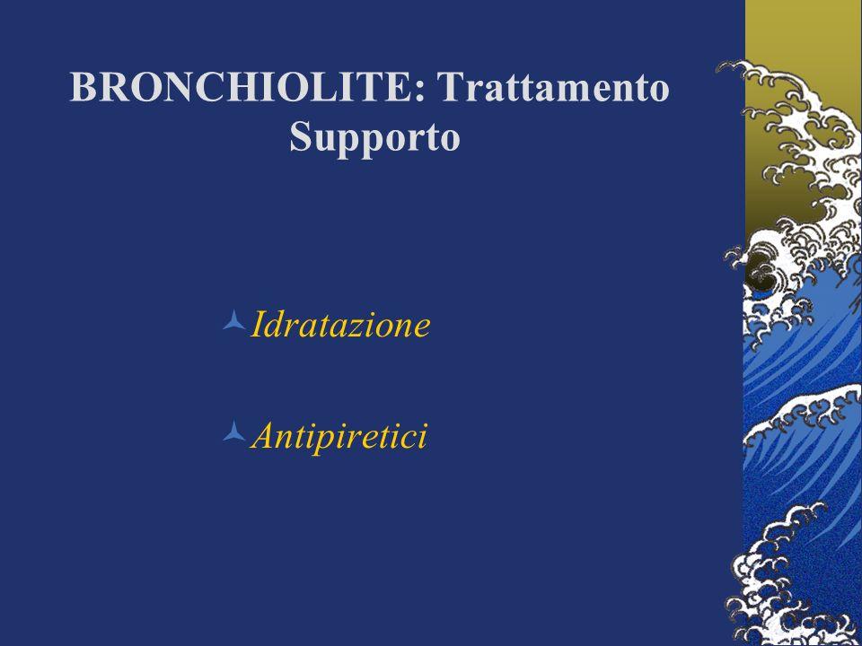 BRONCHIOLITE: Trattamento Supporto Idratazione Antipiretici