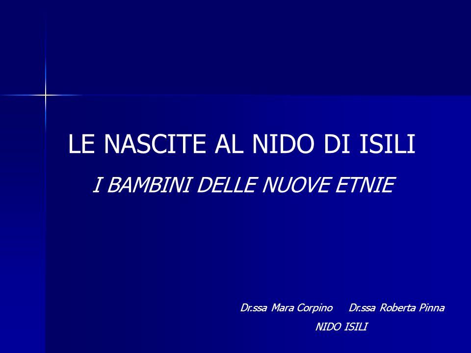 Dr.ssa Mara Corpino Dr.ssa Roberta Pinna NIDO ISILI LE NASCITE AL NIDO DI ISILI I BAMBINI DELLE NUOVE ETNIE