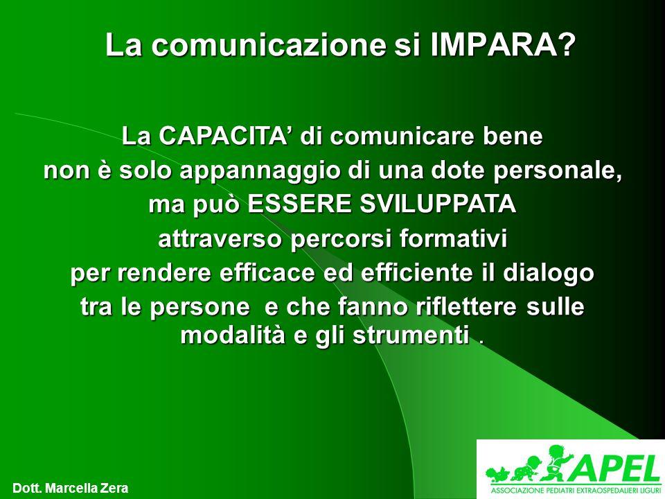 La comunicazione si IMPARA.