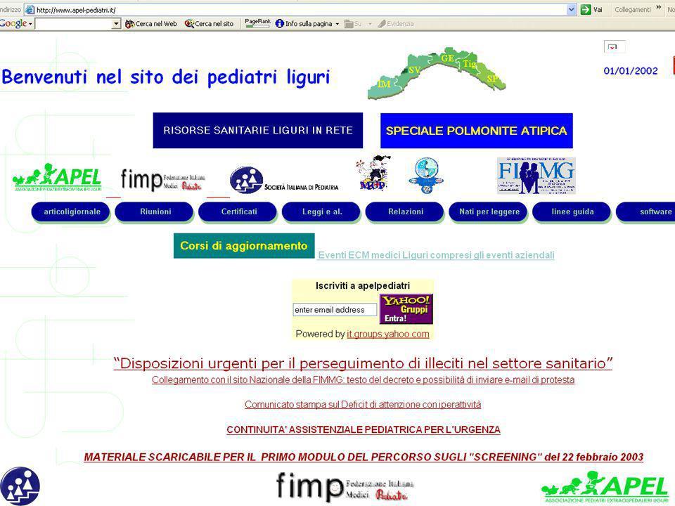 22 marzo 2003 PREVENZIONE IN EPOCA NEONATALE Ospedale, Consultorio, Pediatra di Libera scelta: quale integrazione - Organizzato dal dott.