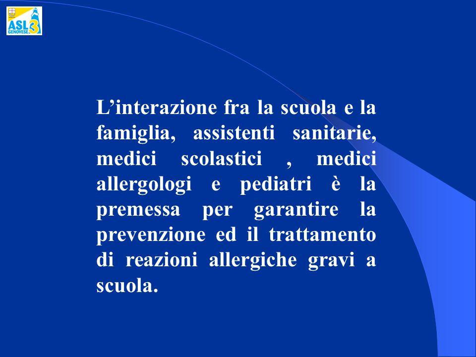 Linterazione fra la scuola e la famiglia, assistenti sanitarie, medici scolastici, medici allergologi e pediatri è la premessa per garantire la preven