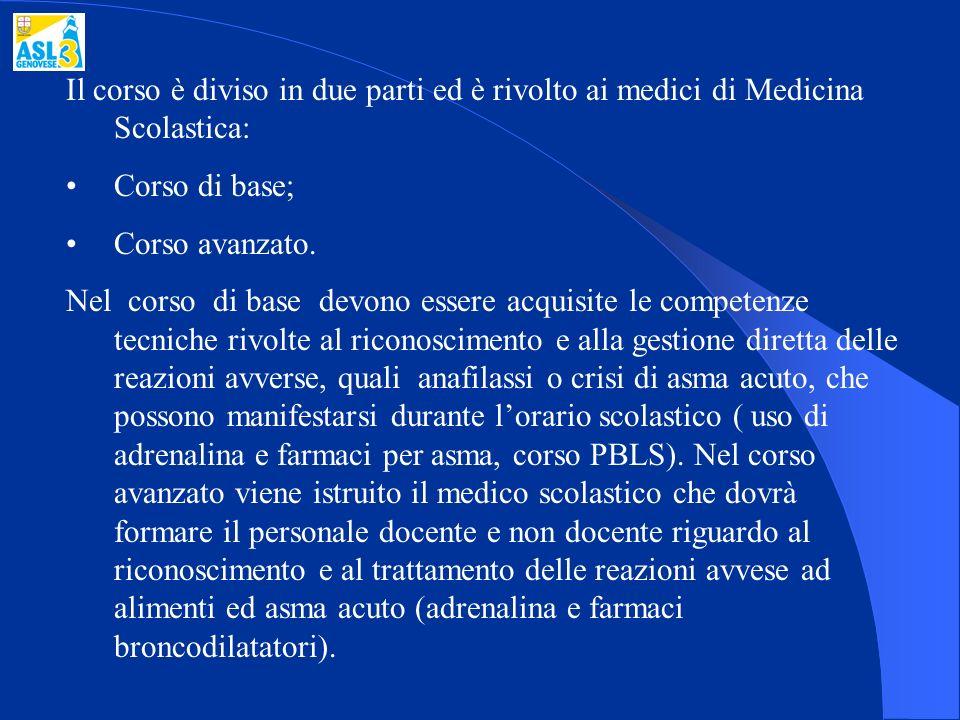 Il corso è diviso in due parti ed è rivolto ai medici di Medicina Scolastica: Corso di base; Corso avanzato. Nel corso di base devono essere acquisite