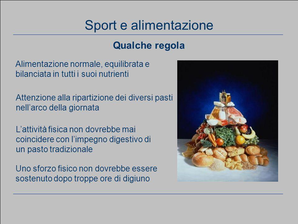 7 Considerazioni generali Alimentazione normale, equilibrata e bilanciata in tutti i suoi nutrienti Attenzione alla ripartizione dei diversi pasti nel