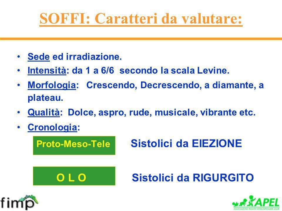 SOFFI: Caratteri da valutare: Sede ed irradiazione.