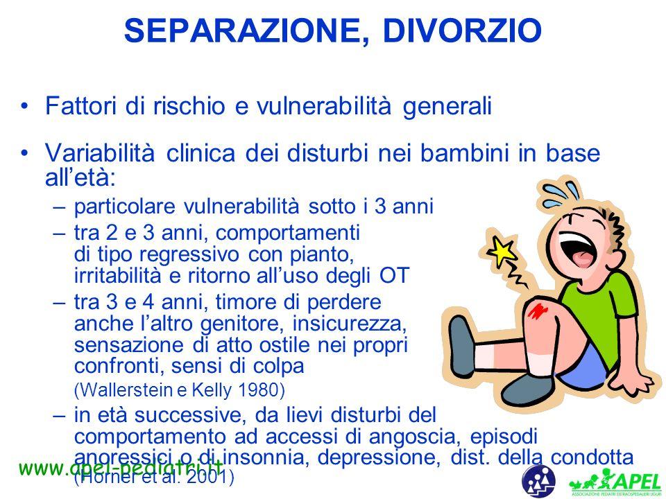 www.apel-pediatri.it Divorzio: considerazioni finali - Può essere una soluzione se il rapporto tra coniugi non funziona - La riduzione della ostilità