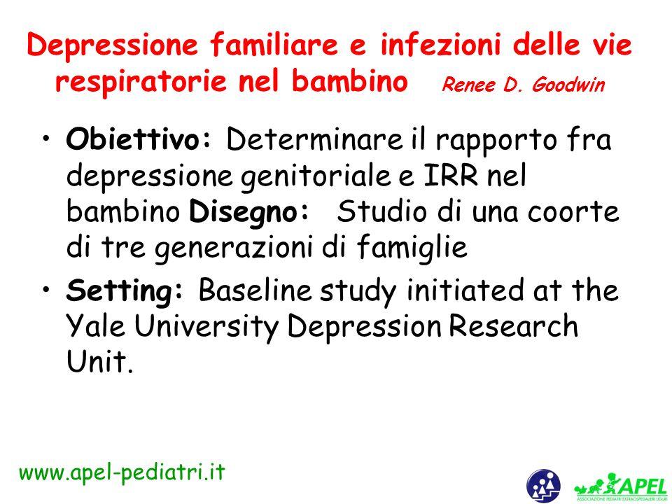 www.apel-pediatri.it Mortalità infantile e nei primi 5 anni di vita in Italia mortalità/1000 nati vivi anno