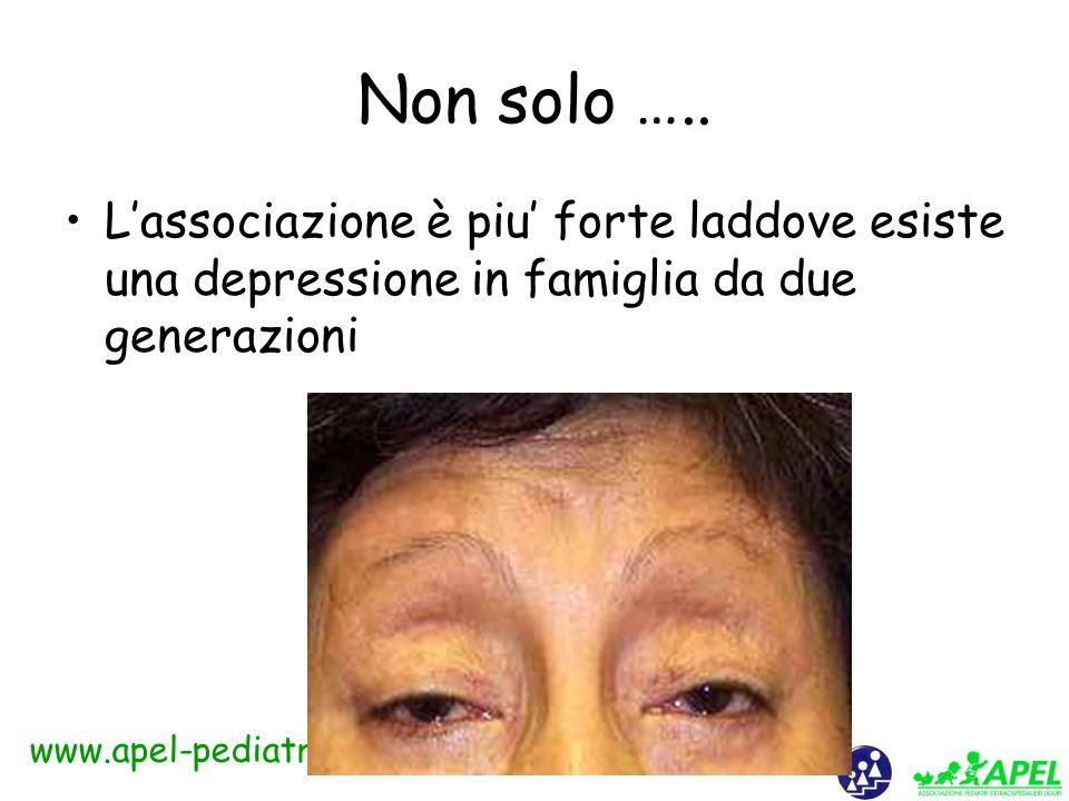 www.apel-pediatri.it Conclusioni Esiste un link significativo non spiegato da altre variabili