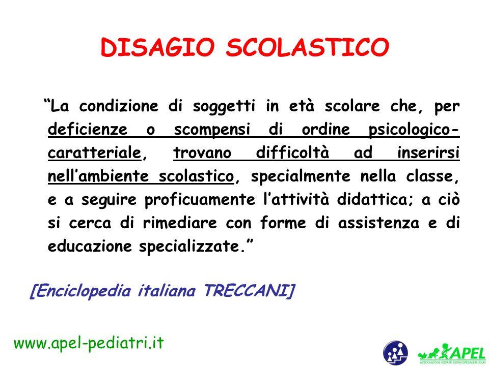 www.apel-pediatri.it DISAGIO PSICOSOCIALE Il