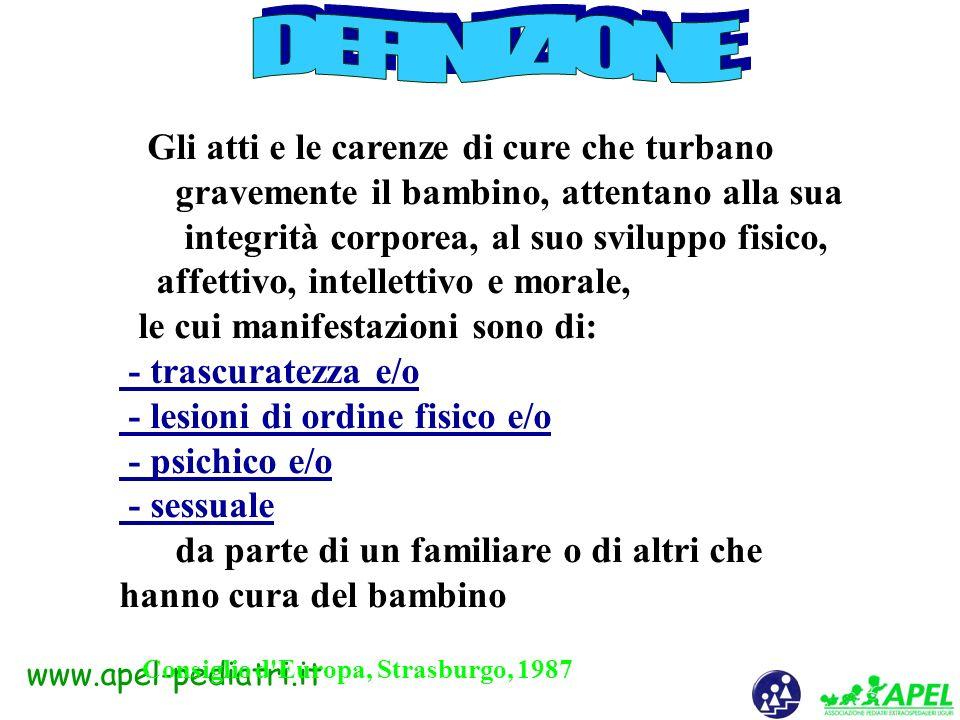 www.apel-pediatri.it Maltrattamento infantile