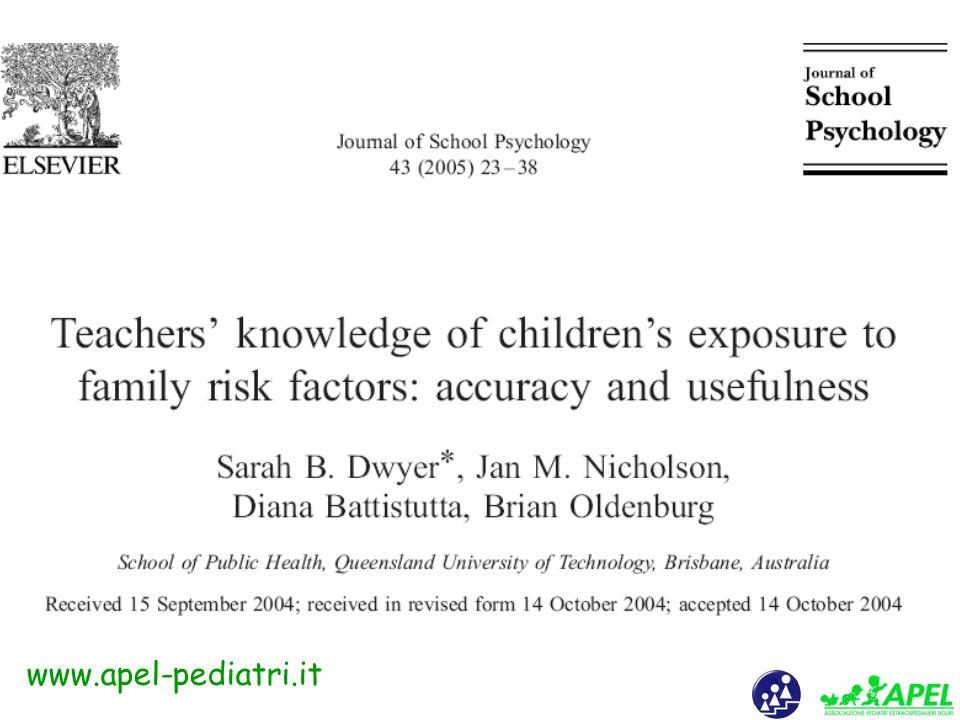 www.apel-pediatri.it Maltrattamento per omissione di: -Diagnosi (vedi quanto esposto) -Informazione ed educazione -Prevenzione