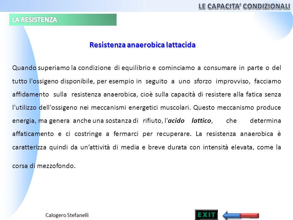 Calogero Stefanelli Quando superiamo la condizione di equilibrioe cominciamo a consumare in parte o del tutto l'ossigeno disponibile, per esempio in s