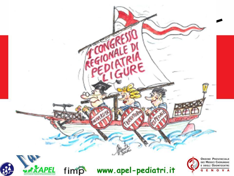 www.apel-pediatri.it Alberto Ferrando Past President SIP Liguria Vice Presidente Ass. pediatri Extraospedalieri liguri (APEL) Pres. Federazione Region