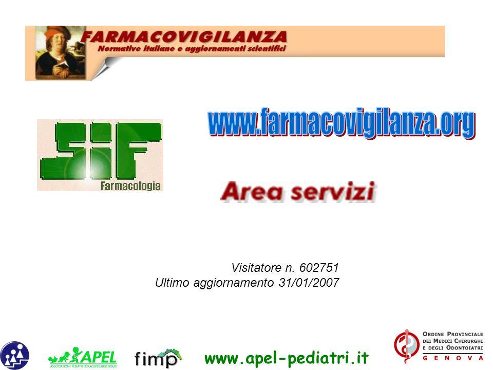 www.apel-pediatri.it Visitatore n. 602751 Ultimo aggiornamento 31/01/2007