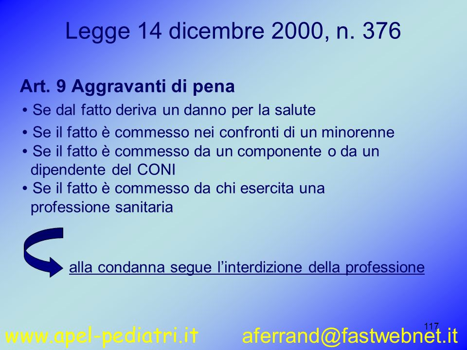 www.apel-pediatri.it aferrand@fastwebnet.it 117 Art.