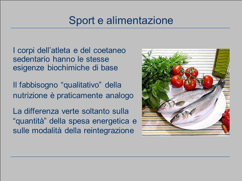 www.apel-pediatri.it aferrand@fastwebnet.it 16 Considerazioni generali Sport e alimentazione La differenza verte soltanto sulla quantità della spesa e