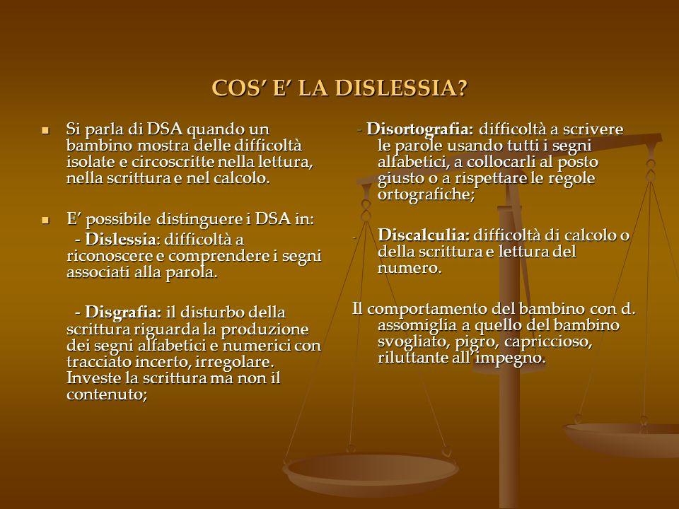 COS E LA DISLESSIA.