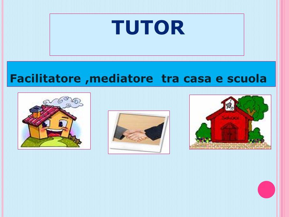 TUTOR Facilitatore,mediatore tra casa e scuola