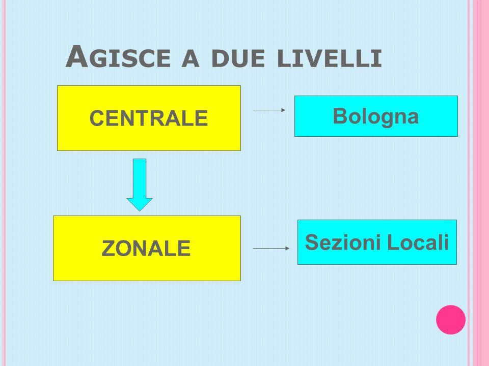 A GISCE A DUE LIVELLI CENTRALE ZONALE Bologna Sezioni Locali