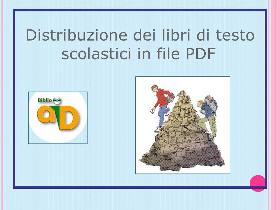 Distribuzione dei libri di testo scolastici in file PDF