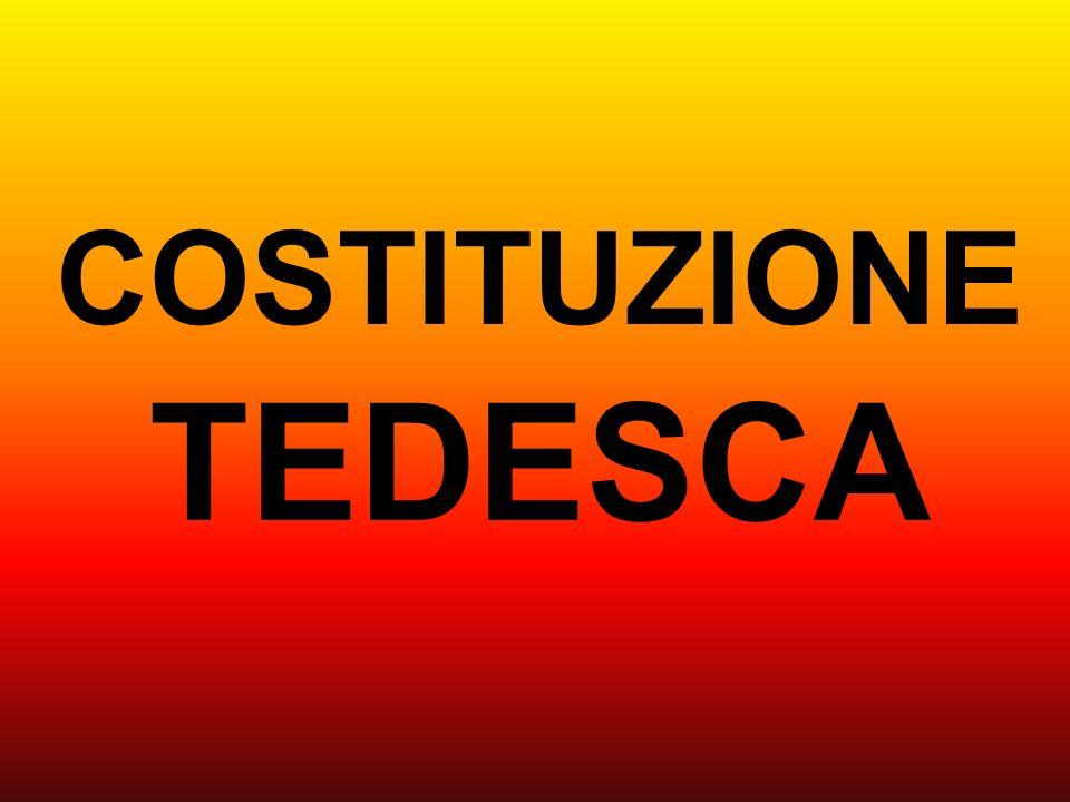 COSTITUZIONE TEDESCA