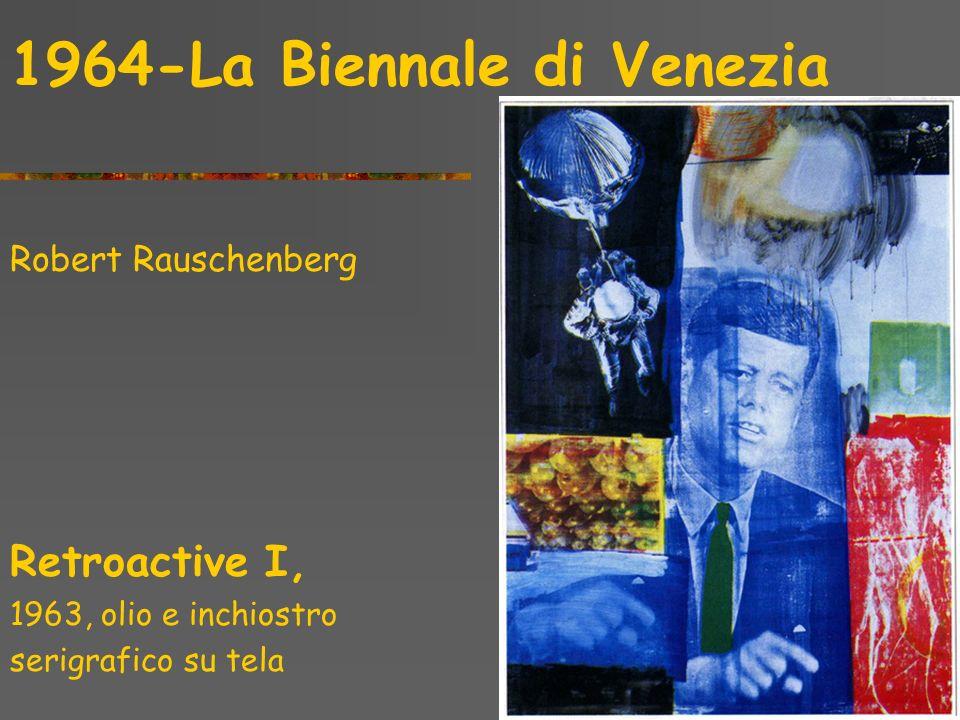 1964-La Biennale di Venezia Robert Rauschenberg Kite 1963, Combine painting
