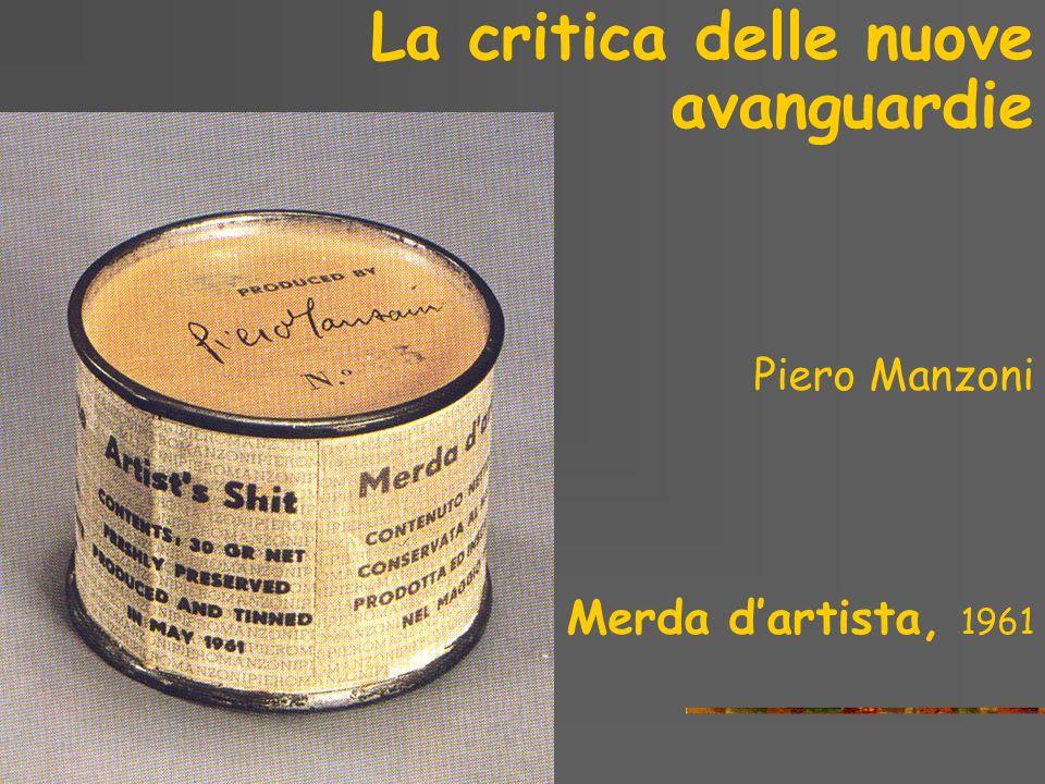La critica delle nuove avanguardie Piero Manzoni Scultura vivente, 1961
